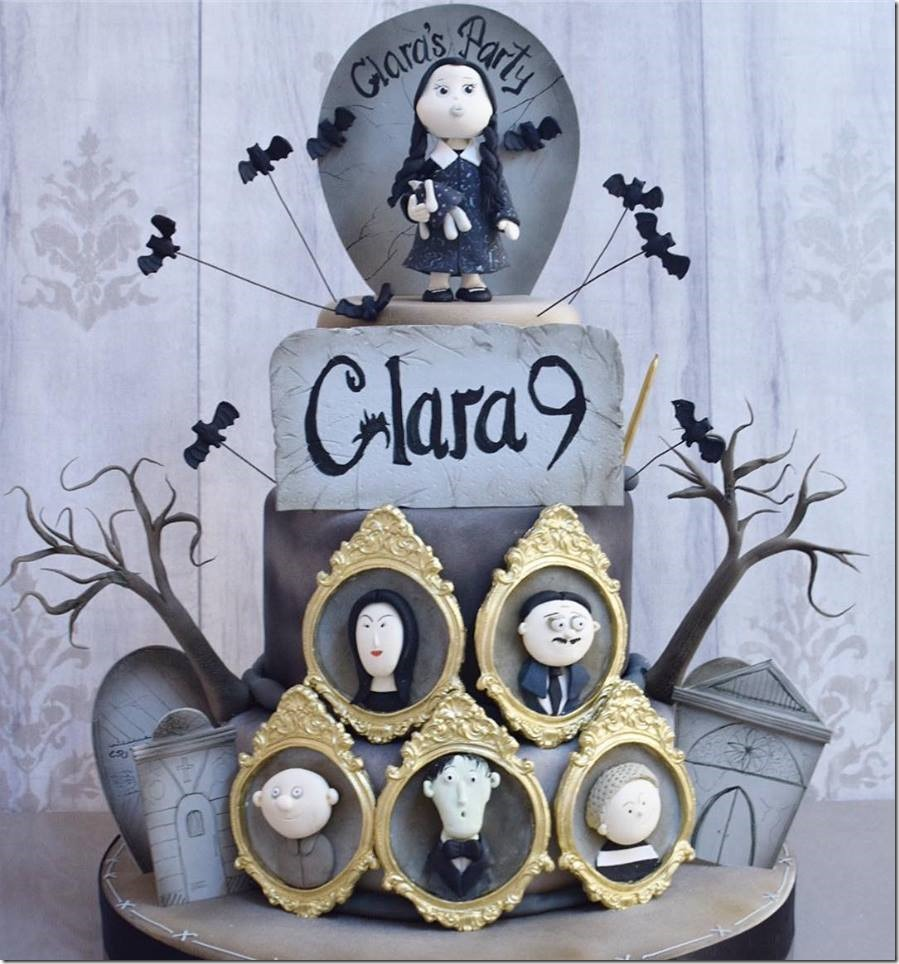 Addams Family 9th Birthday Cake