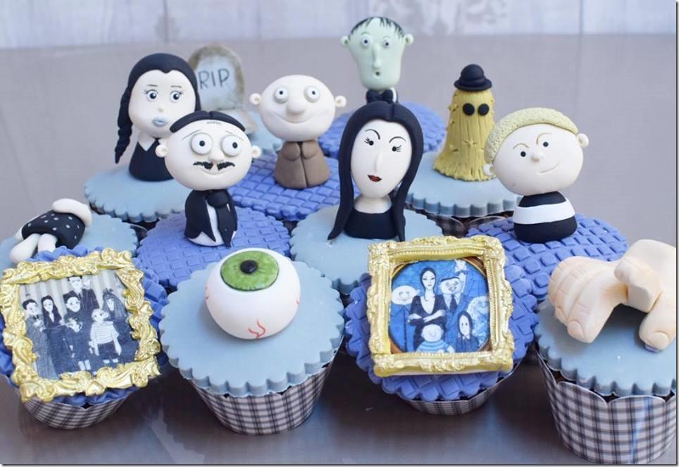 Addams Family Cupcakes