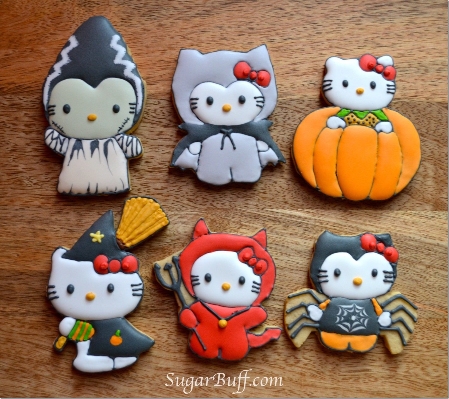 Hello Kitty Halloween Cookies