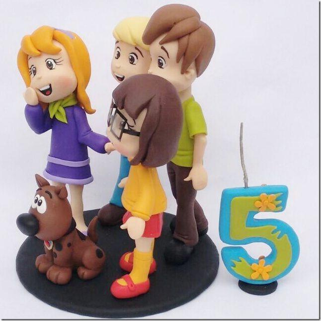 Scooby-Doo 5th Birthday Cake Topper