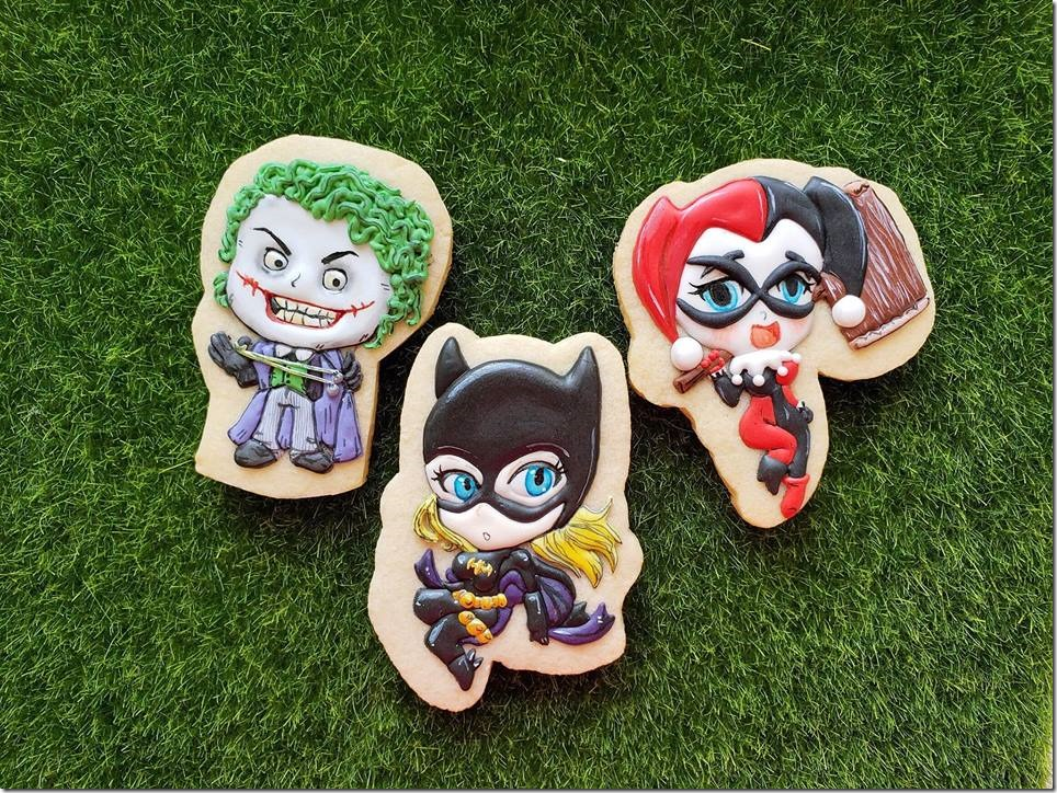 Joker, Batgirl, and Harley Quinn Cookies