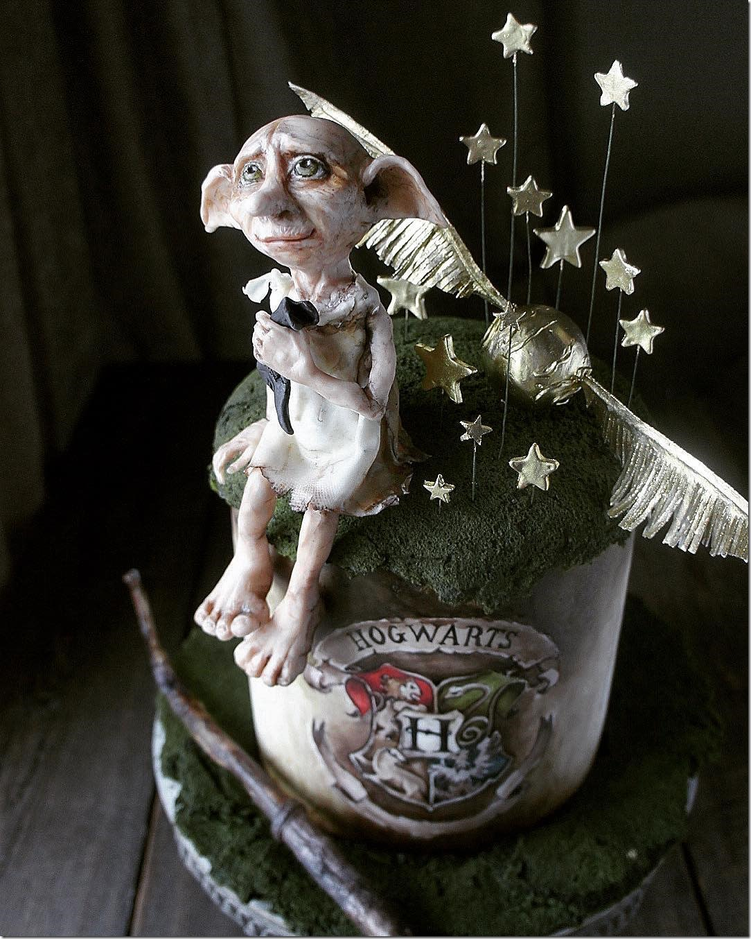Close-up of Dobby Cake
