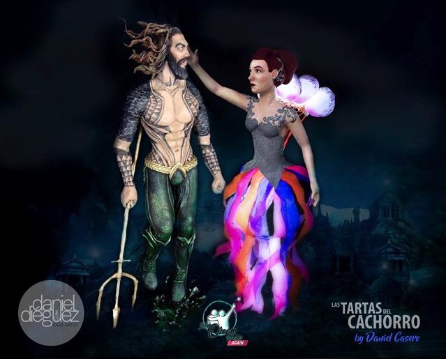 Aquaman and Mera Cakes