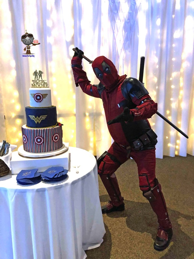 Deadpool with cake