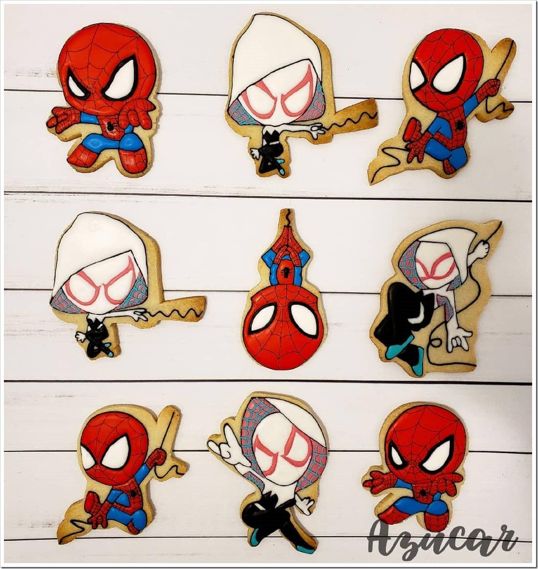 Spider-Man & Spider-Gwen Cookies
