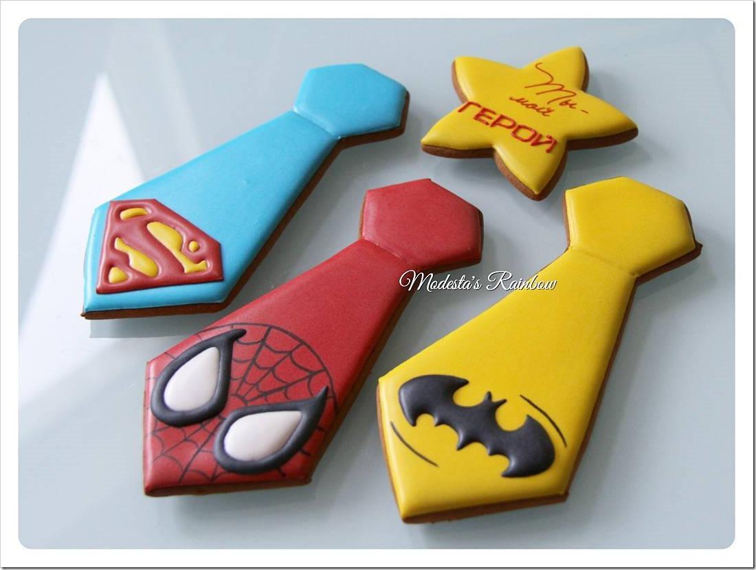 Super Hero Tie Cookies