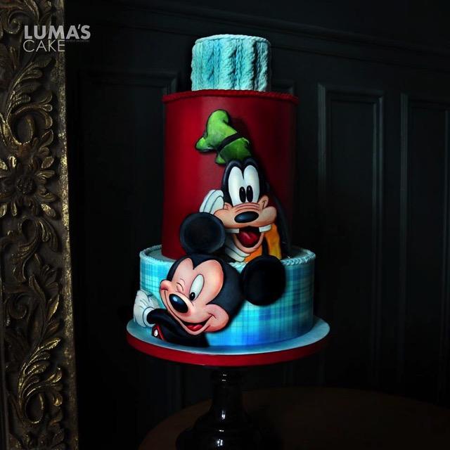 Mickey and Goofy Cake
