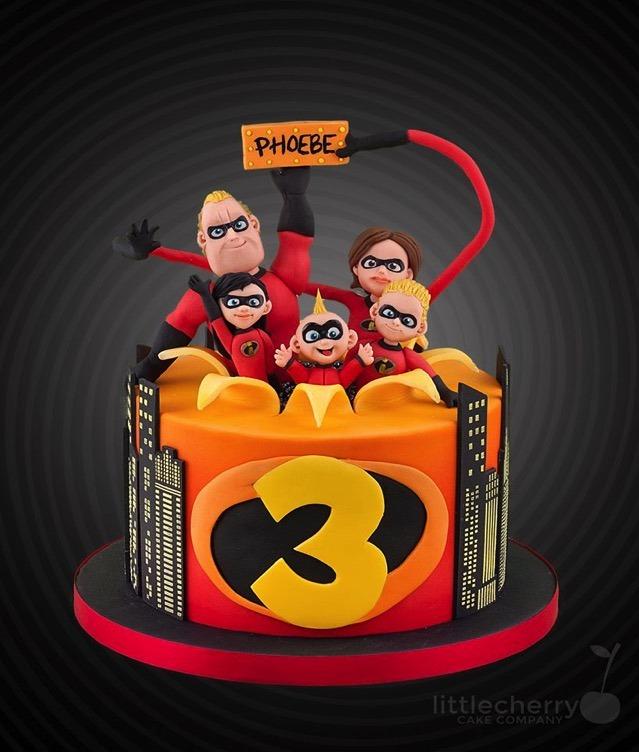 Incredibles 3rd Birthday Cake
