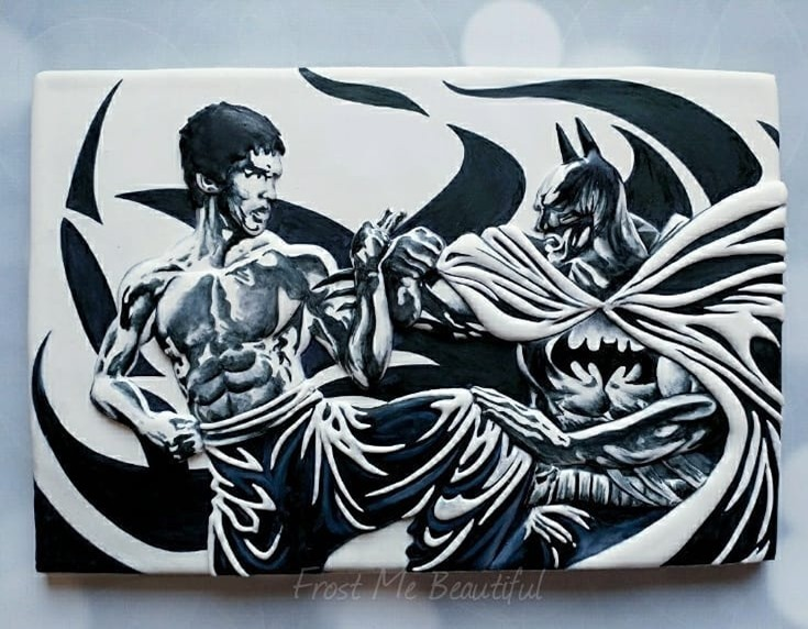 Bruce Lee vs. Batman Cookie