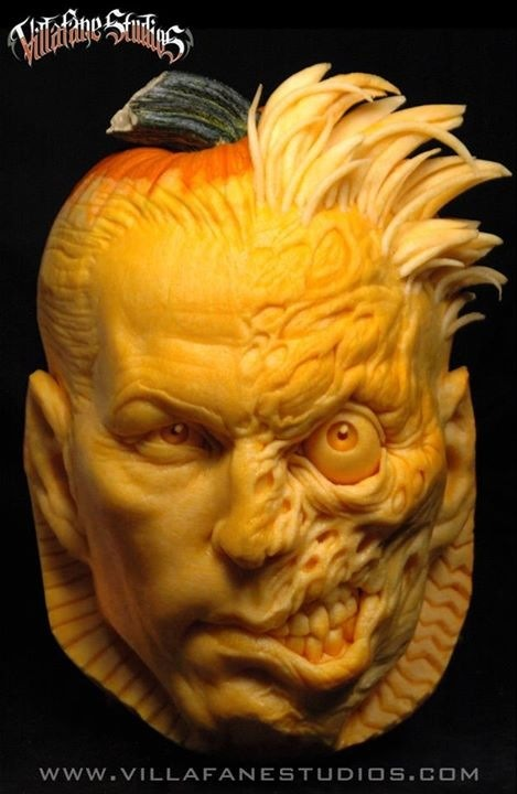 Two-Face Pumpkin Carving
