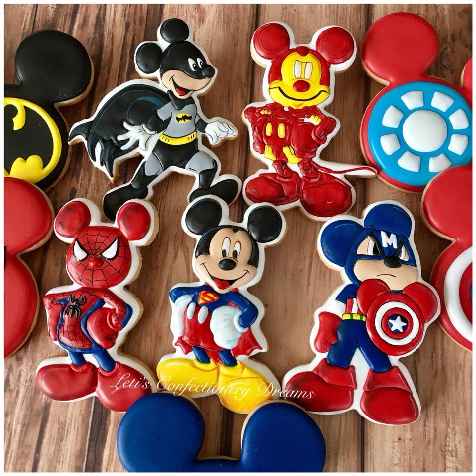 Mickey Mouse / Super Hero Mash-Up Cookies