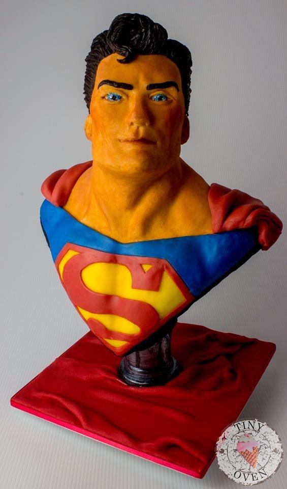 Superman 40th Birthday Cake