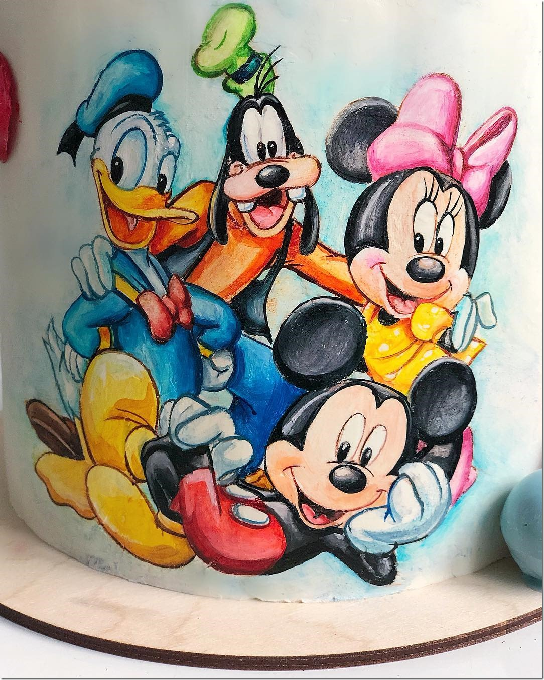 Close-up of Mickey and Friends Cake