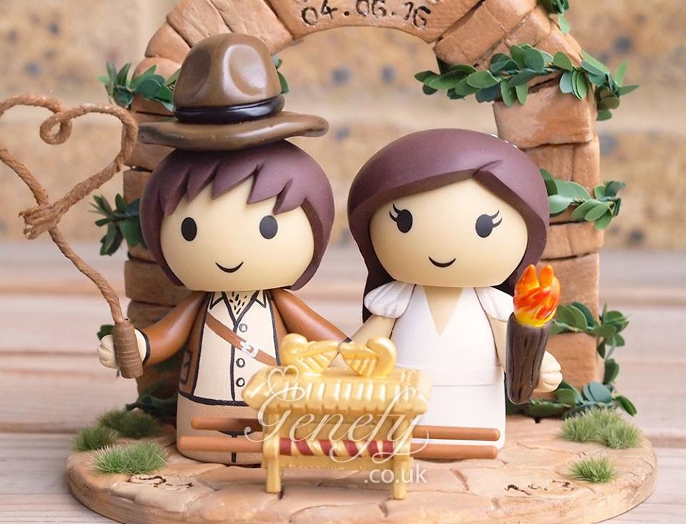 Raiders Of The Lost Ark Wedding Cake Topper