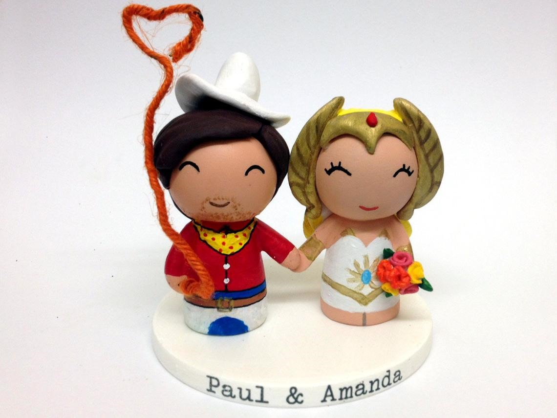 She-Ra and Pecos Bill Wedding Cake Topper