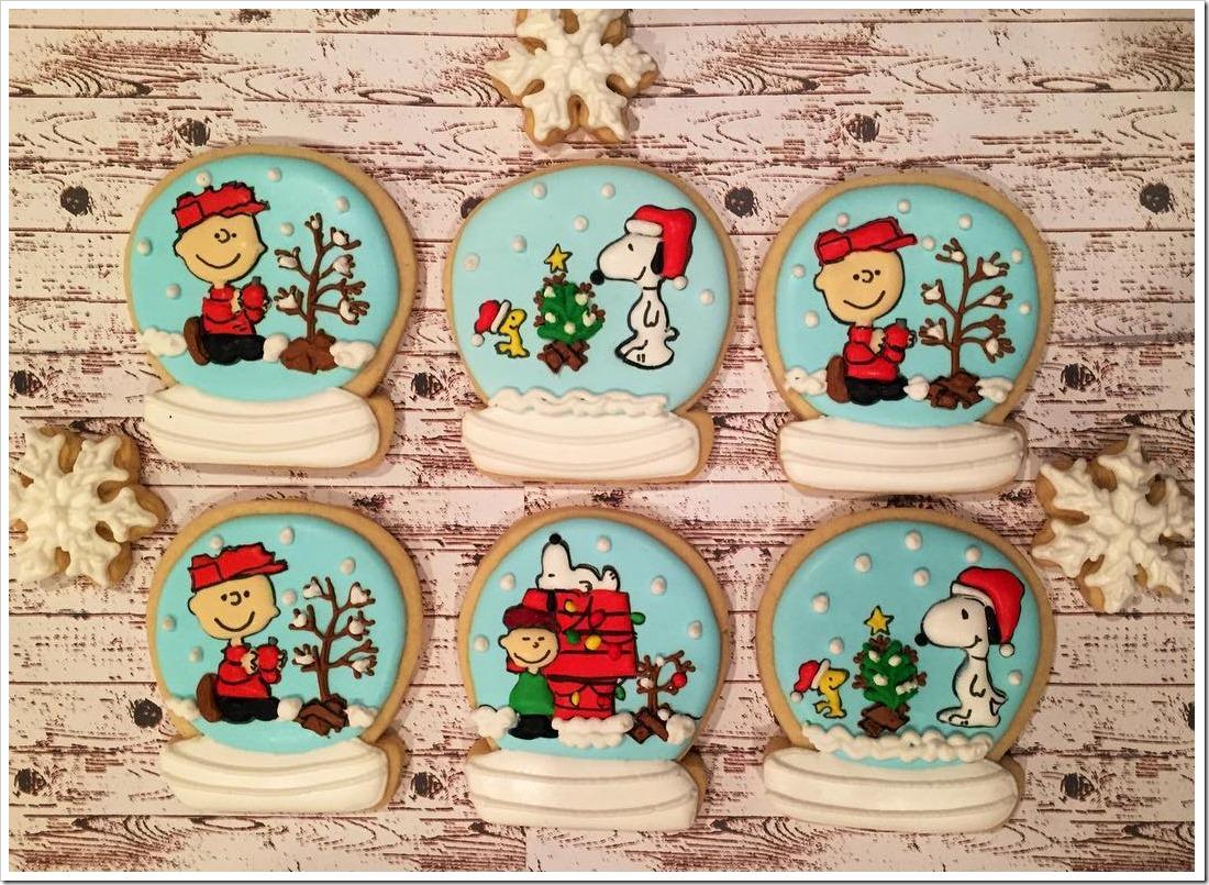 Charlie Brown Snowglobes Cookies