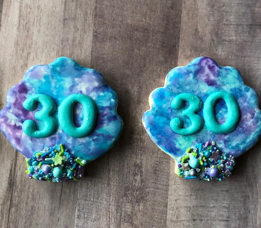 Little Mermaid 30th Birthday Cookies