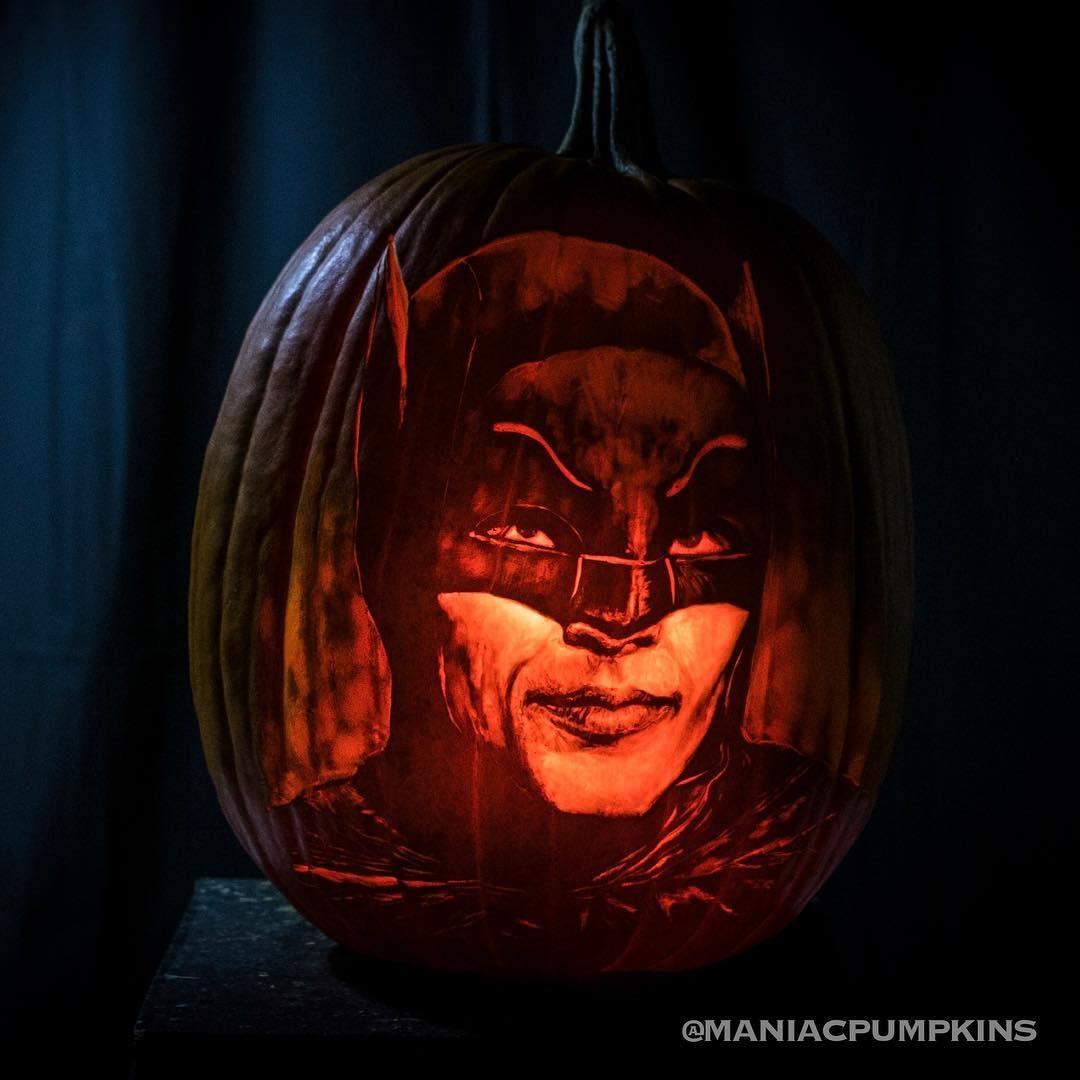 Adam West Batman Pumpkin Carving 1
