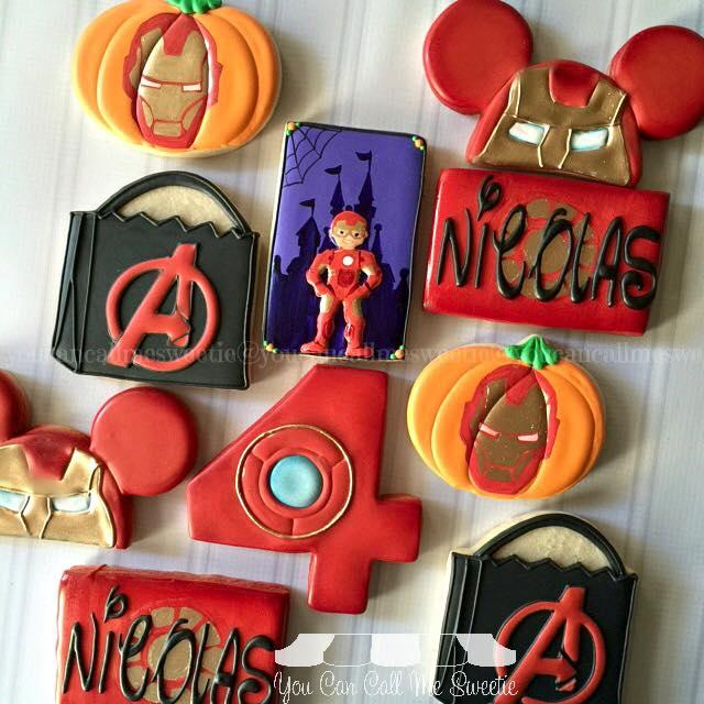 Iron Man Halloween Cookies