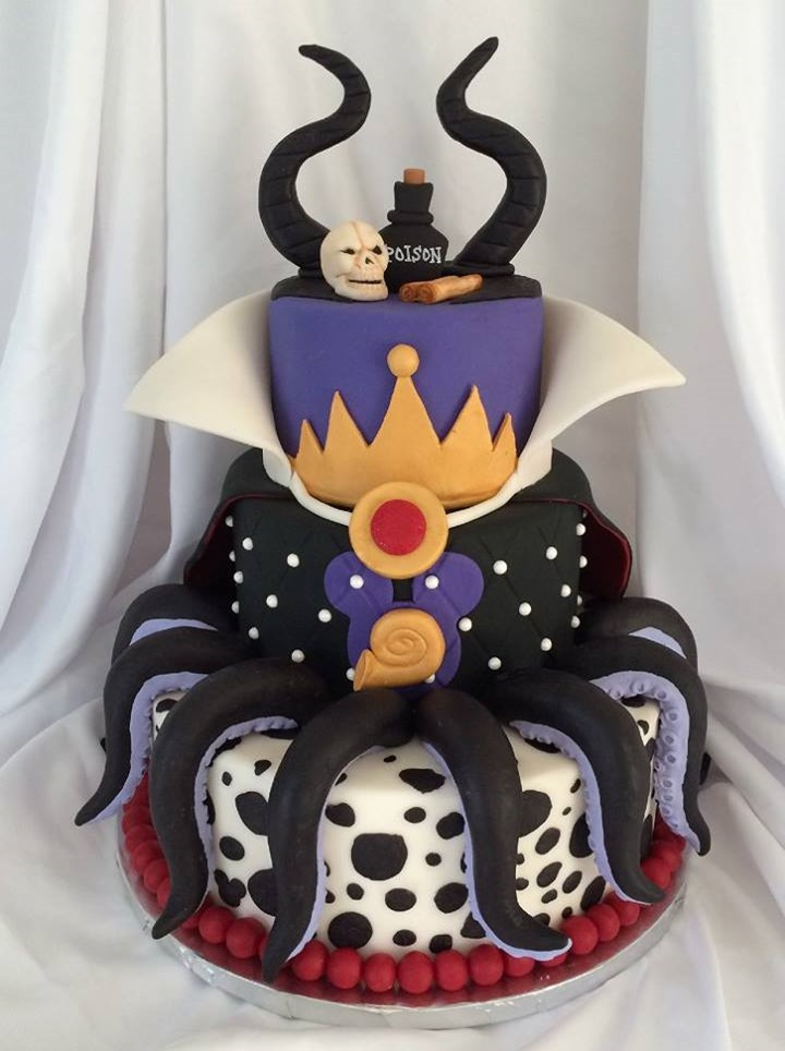 Disney Villains Mashup Cake