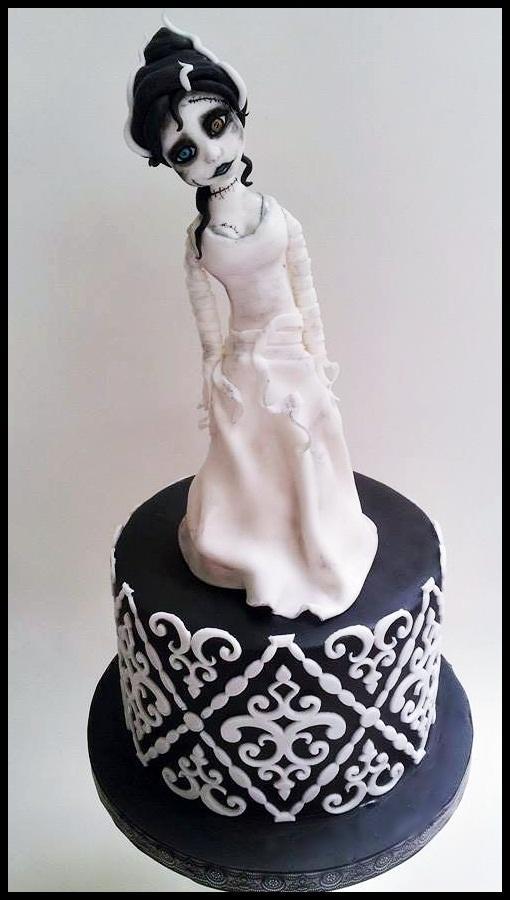 Bride of Frankenstein Cake