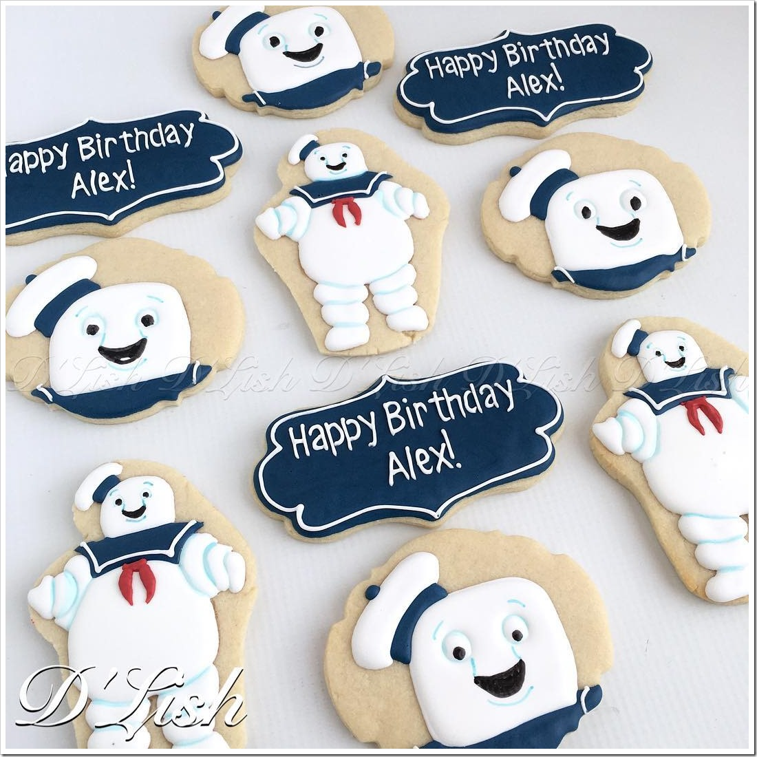 Stay Puft Marshmallow Man Cookies