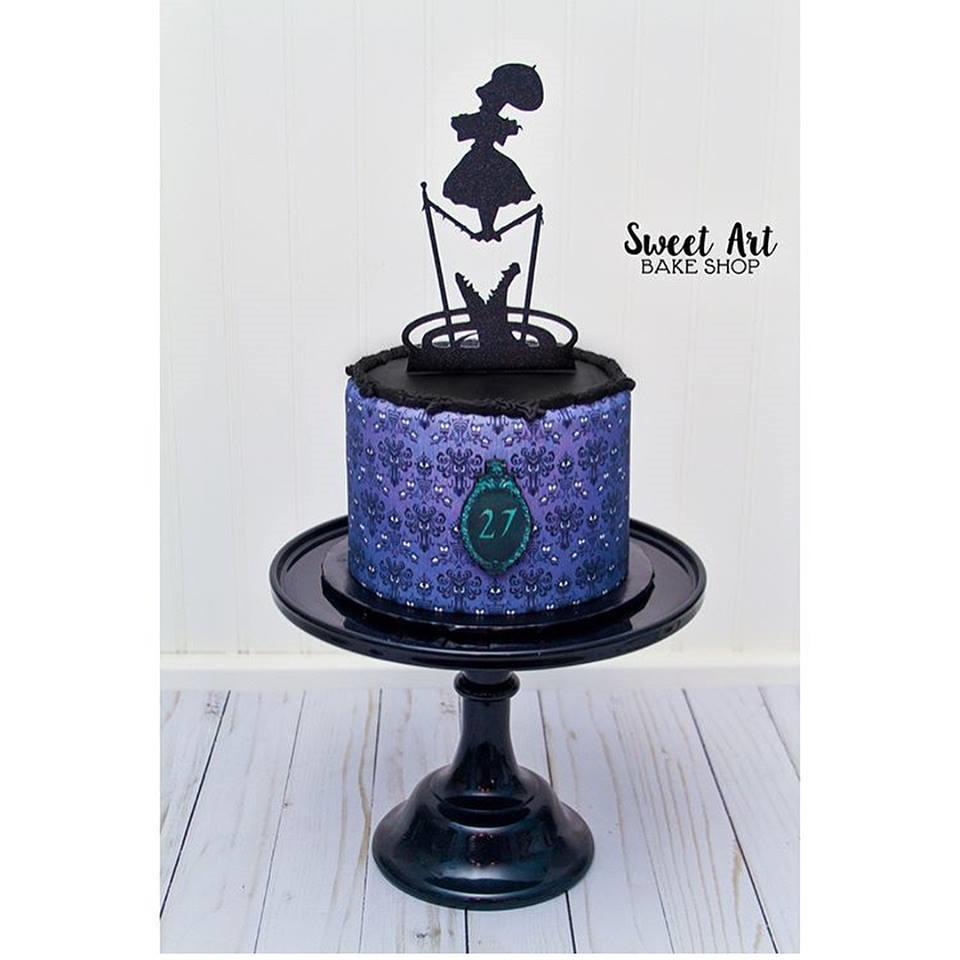 Haunted Mansion 27th Birthday Cake