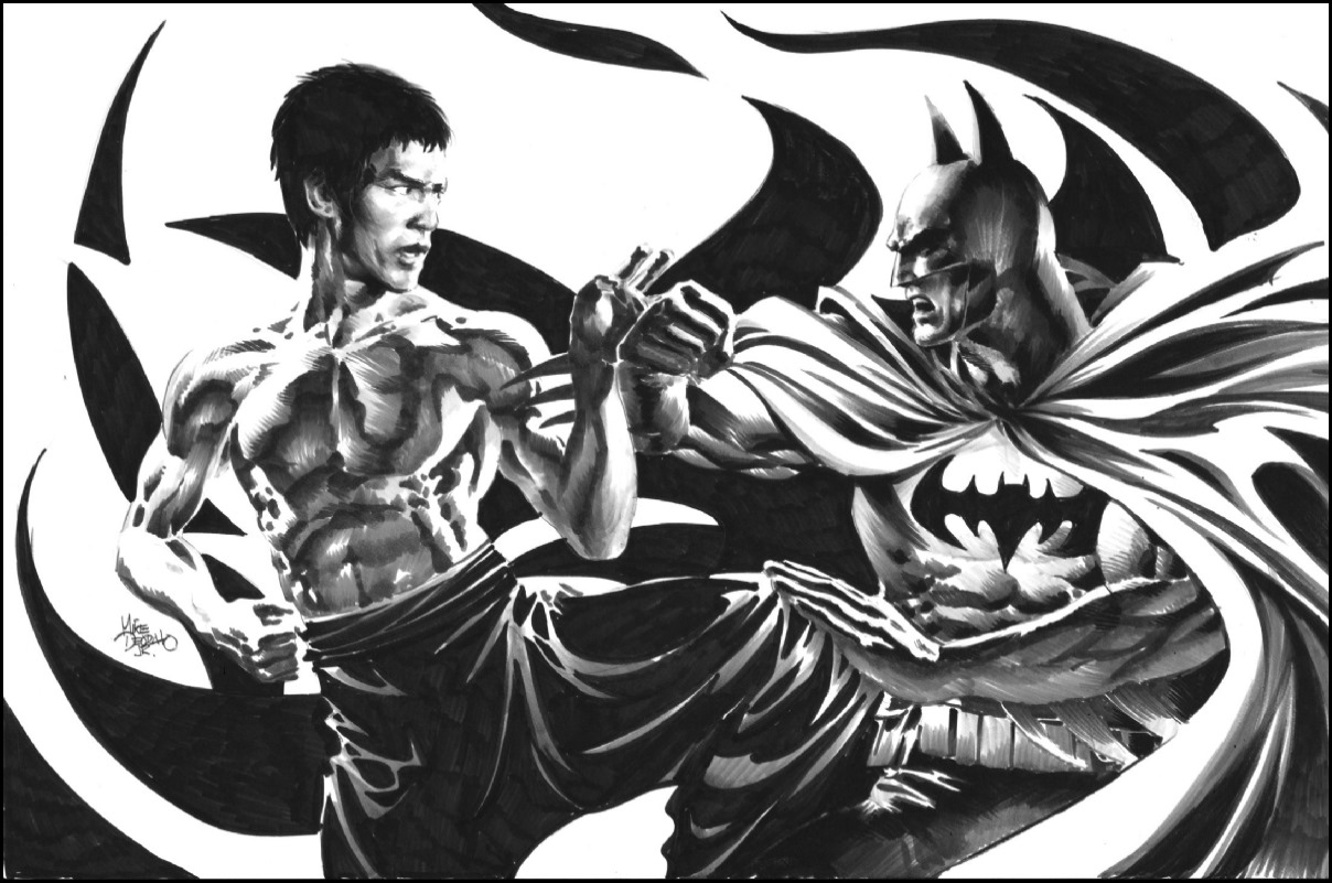 Batman vs. Bruce Lee by Mike Deodato