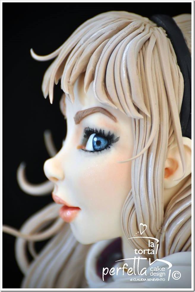 Close-up Spider-Gwen Cake