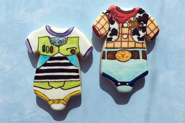 Baby Buzz Lightyear and Woody Cookies