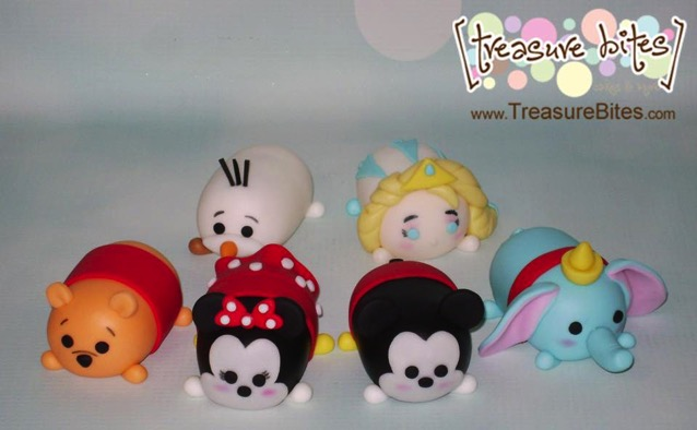 Disney Mickey and Minnie Tsum Tsum cake toppers