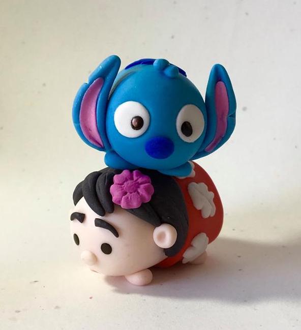 Tsum Tsum Lilo and Stitch Cake Topper