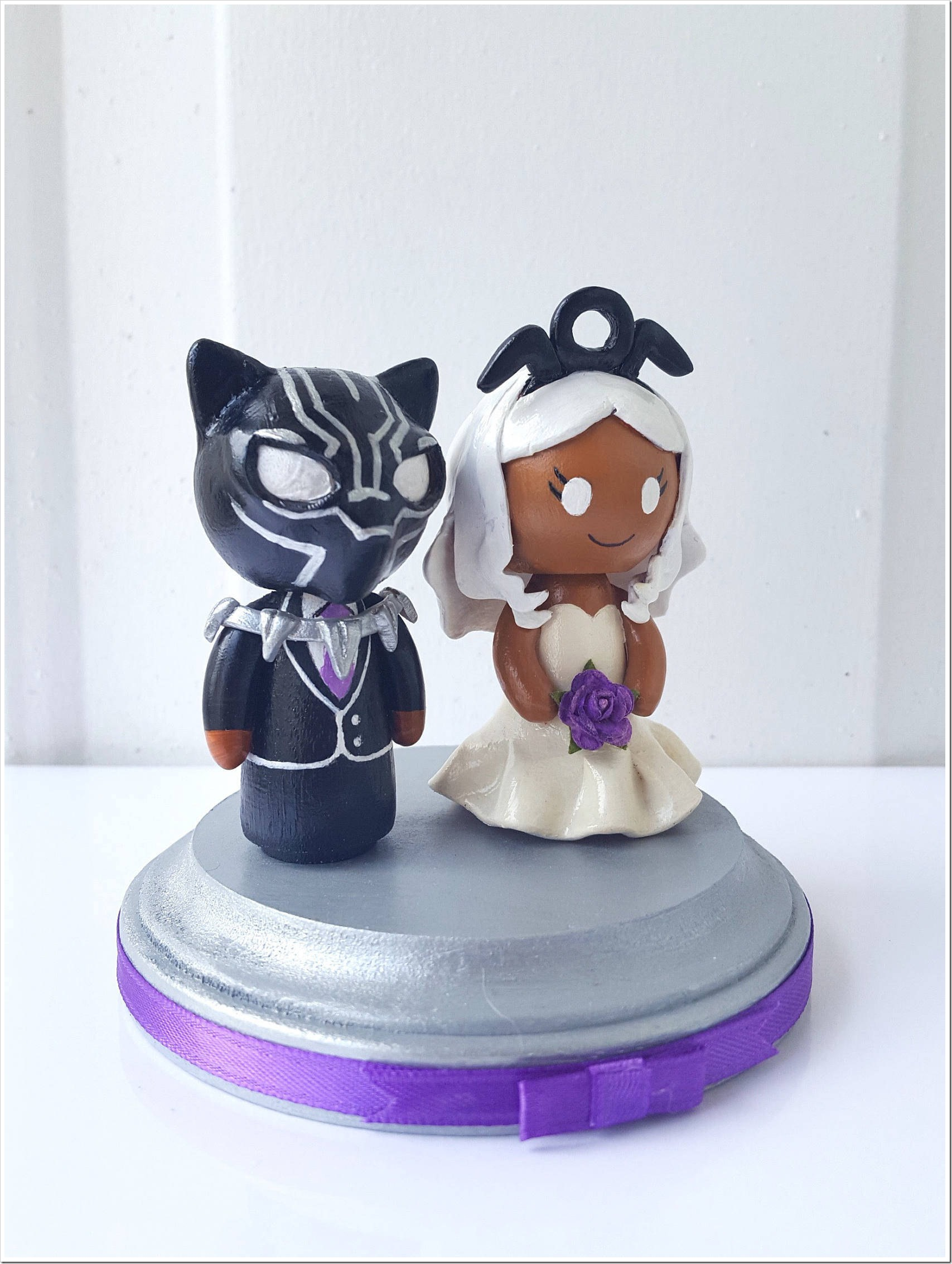 Black Panther and Storm Wedding Cake Topper