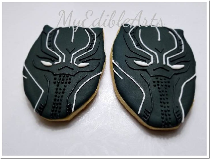 2 Black Panther Sugar Cookies