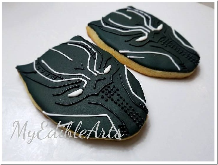 Black Panther Sugar Cookies