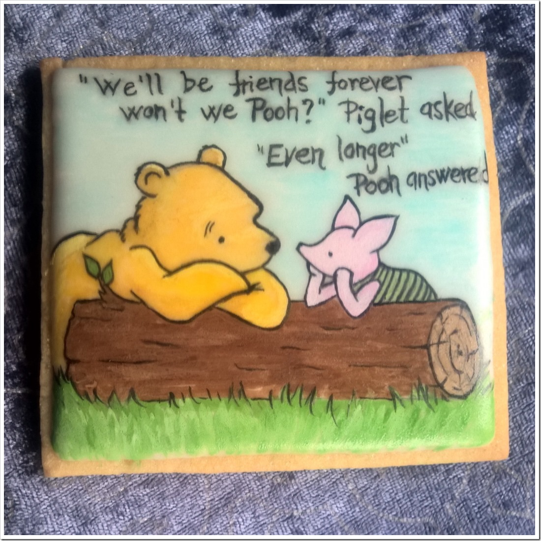 Hand Painted Winnie The Pooh and Piglet Cookies