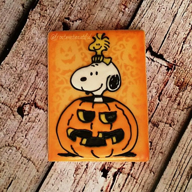 Snoopy Halloween Cookie