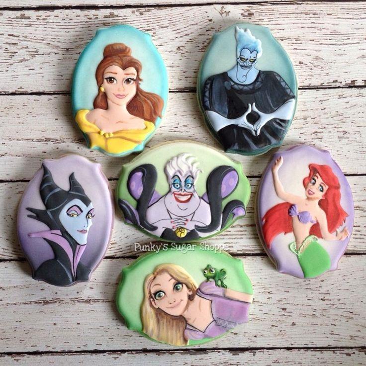 Disney Princess and Villain Cookies