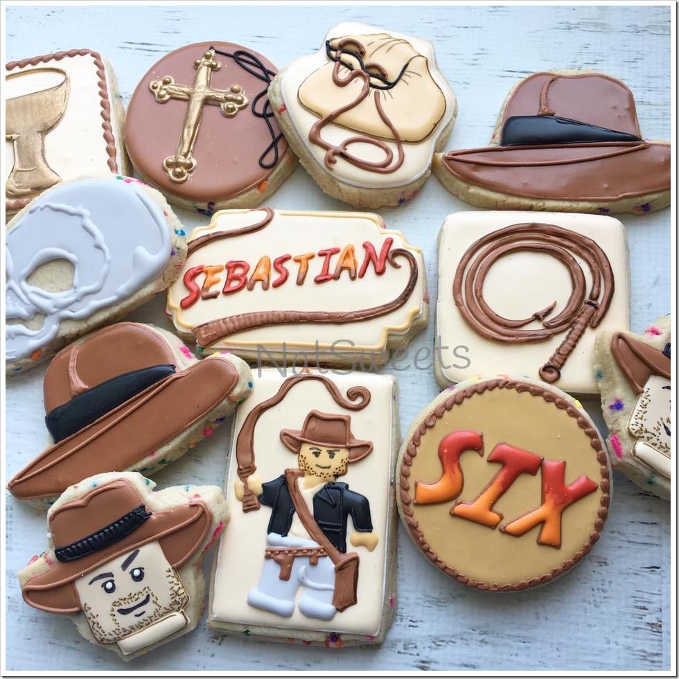 LEGO Indiana Jones 6th Birthday Cookies