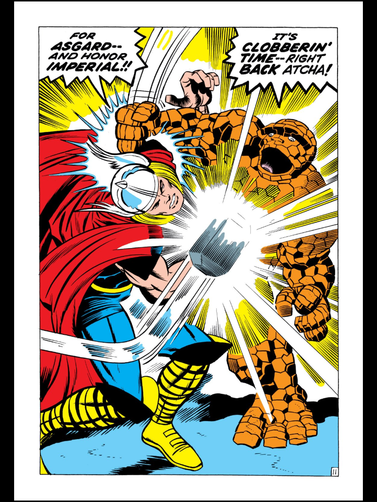 Thor Battles The Thing by Jack Kirby