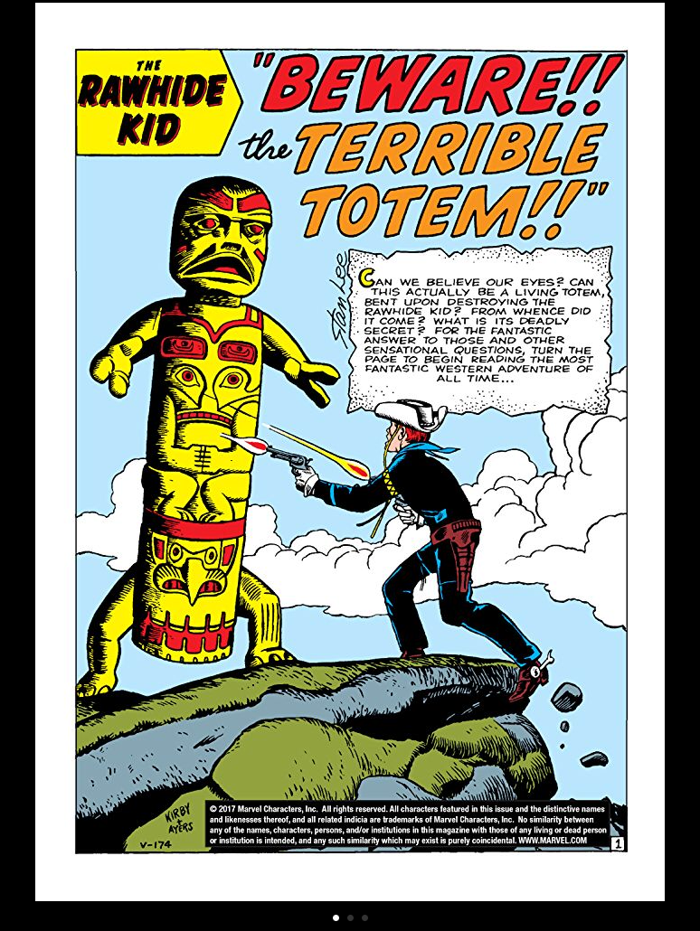 The Rawhide Kid by Jack Kirby and Dick Ayers