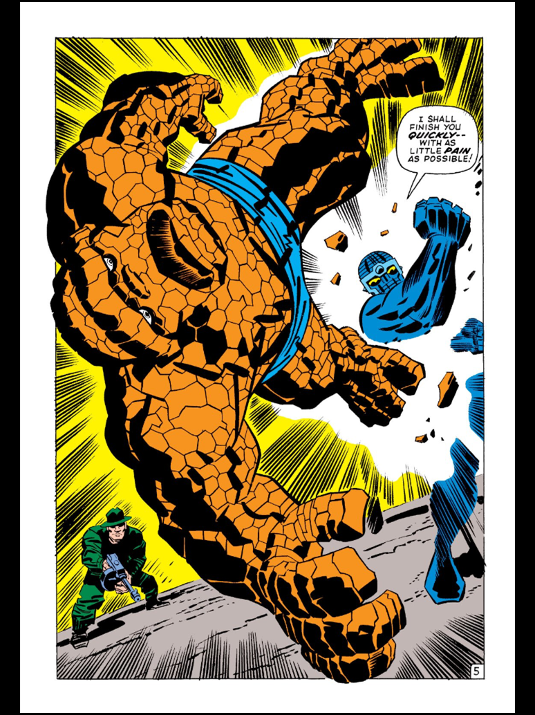 The Thing vs. a robot by Jack Kirby