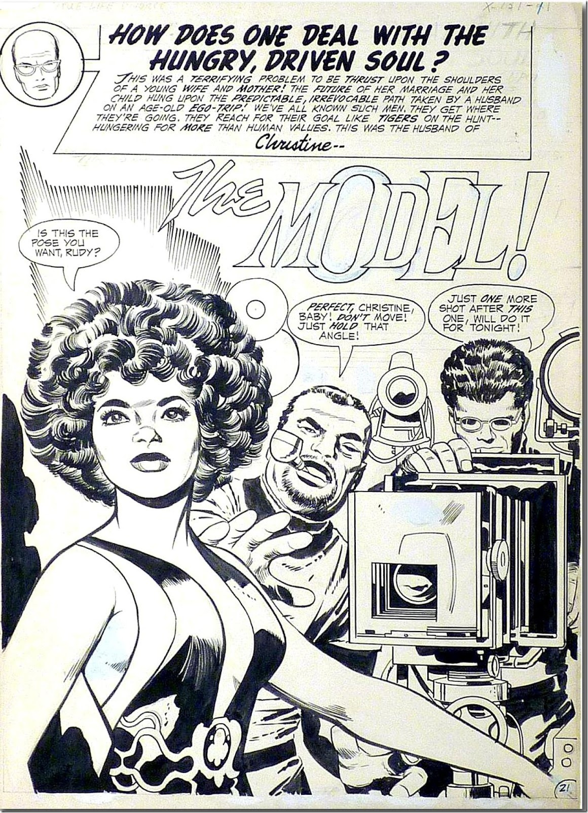 The Model by Jack Kirby from True Life Divorce #1