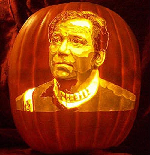 Captain Kirk Pumpkin Carving