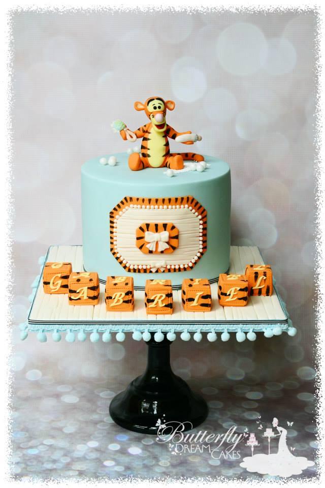 Tigger Baby Shower Cake
