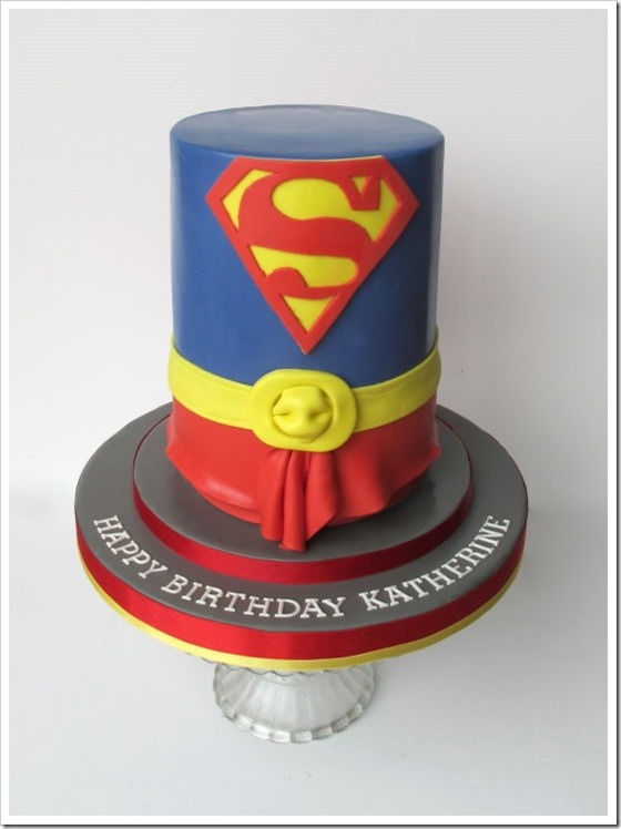 Supergirl Costume Cake