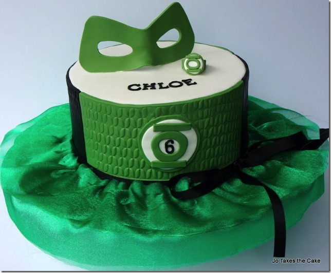 Green Lantern 6th Birthday Cake