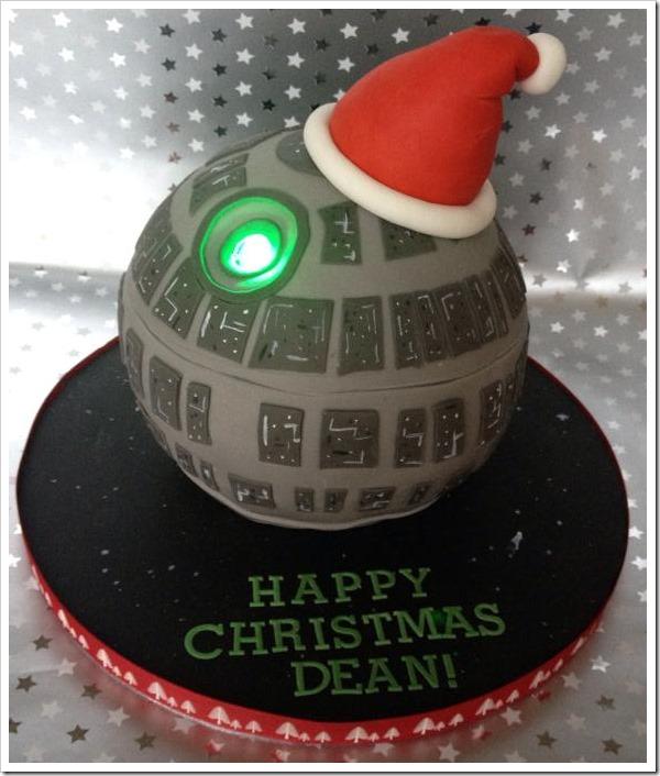 Death Star Christmas Cake