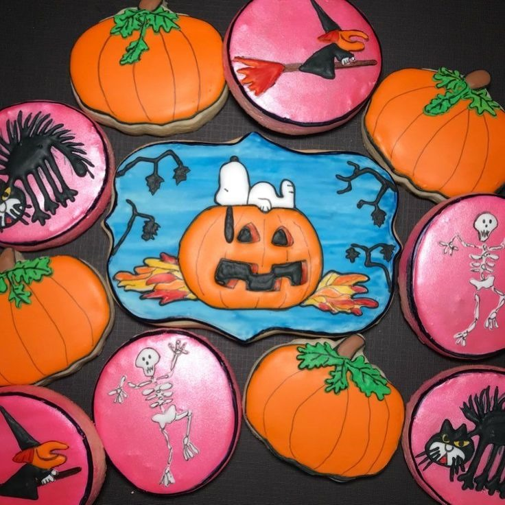 Snoopy Halloween Cookies