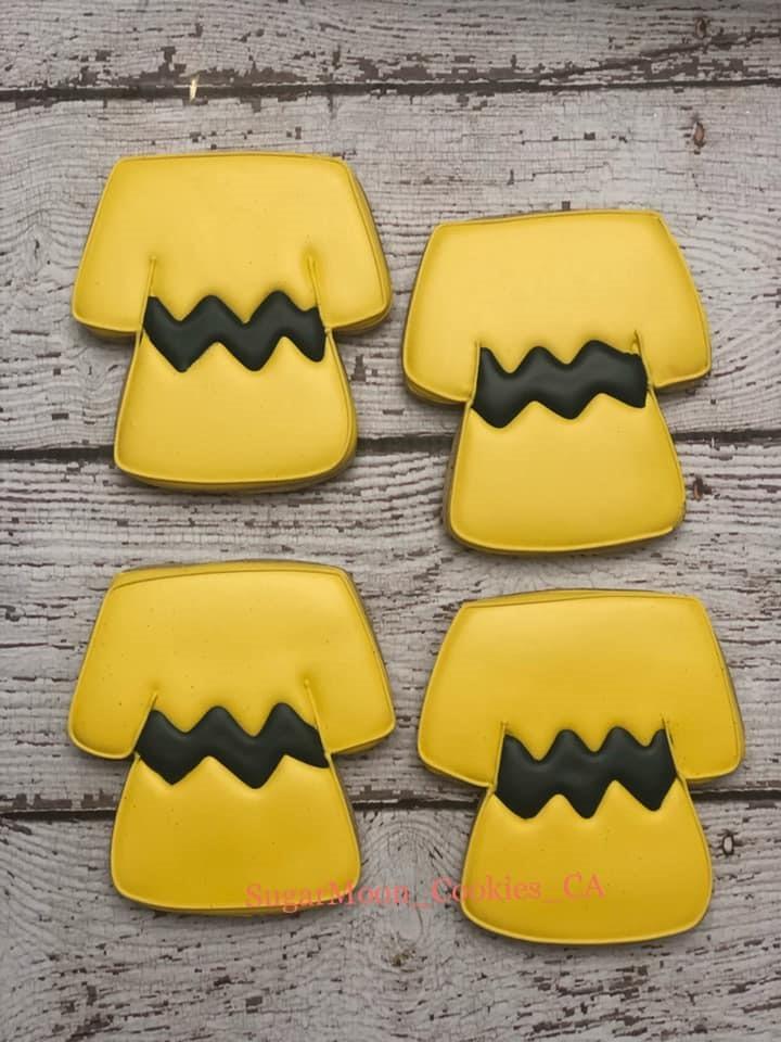 Charlie Brown T-Shirt Cookies